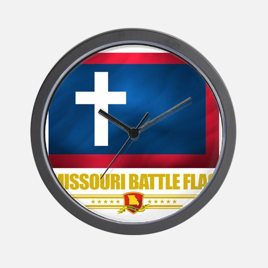 Missouri Battle Flag (flag 10) Wall Clock