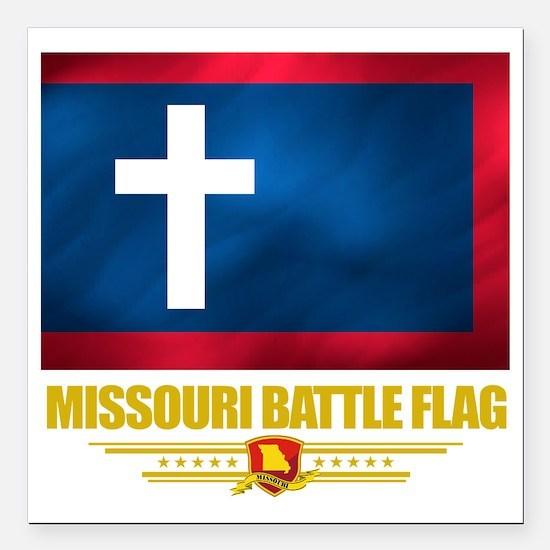 "Missouri Battle Flag (fl Square Car Magnet 3"" x 3"""