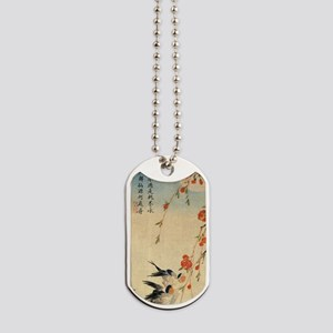 Swallow and peach flowers.travel.p2 Dog Tags