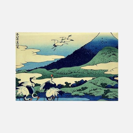 cranes-sagami.mouse Rectangle Magnet