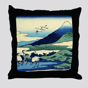 cranes-sagami.mouse Throw Pillow