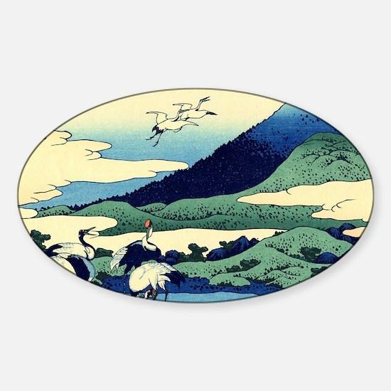 cranes-sagami.mouse Sticker (Oval)