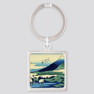 cranes-sagami.mouse Square Keychain