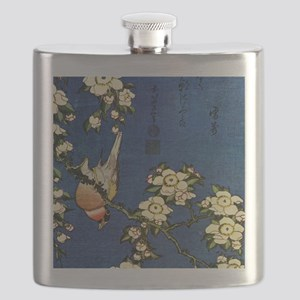 Bullfinch and drooping cherry.mouse Flask