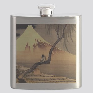 Boy in front of Fujiama.mouse Flask