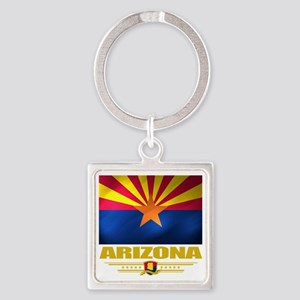 Arizona (Flag 10) Square Keychain