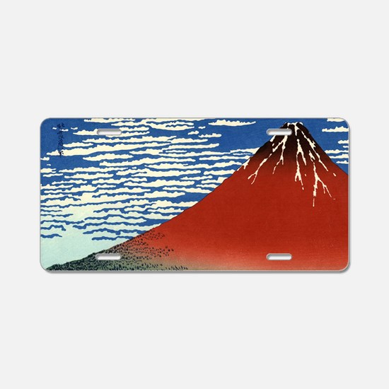 red-fuji.146 Aluminum License Plate