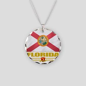 Florida (Flag 10) Necklace Circle Charm