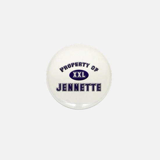 Property of jennette Mini Button