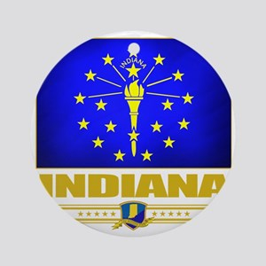 Indiana (Flag 10) Round Ornament