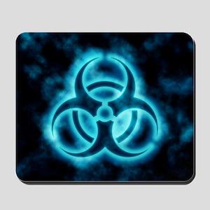 glowingBiohazard2blue Mousepad
