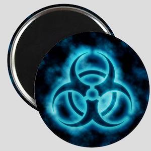 glowingBiohazard2blue Magnet