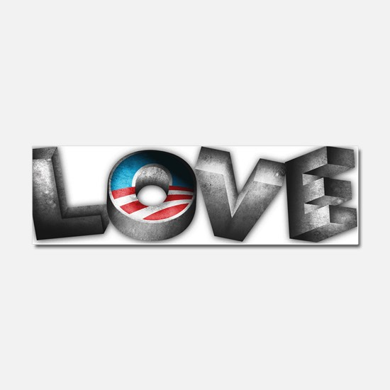 Love-Obama-BumStic Car Magnet 10 x 3