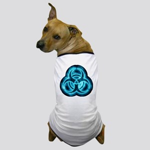 glowingBiohazard2blueTCrop Dog T-Shirt