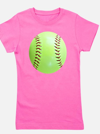 Softball Earrings, Charms Girl's Tee
