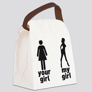 YOUR GIRL VS MY GIRL Canvas Lunch Bag