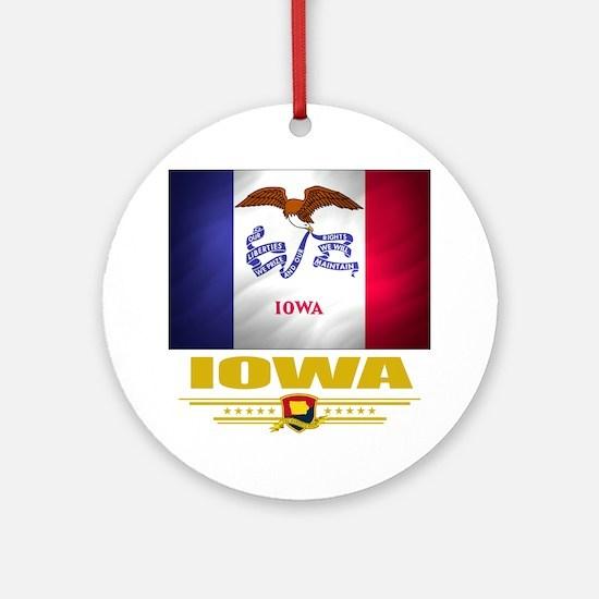 Iowa (Flag 10) Round Ornament