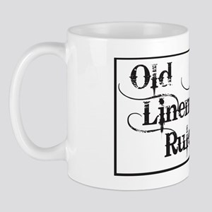 old linemen rule car tag 1 Mug
