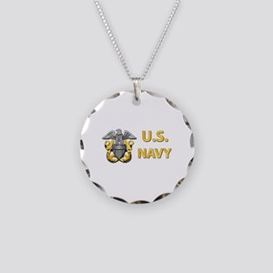 U.S. Navy Necklace Circle Charm