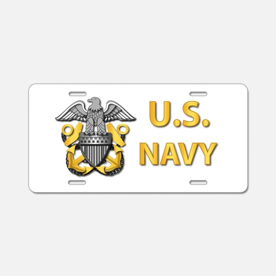 U.S. Navy Aluminum License Plate