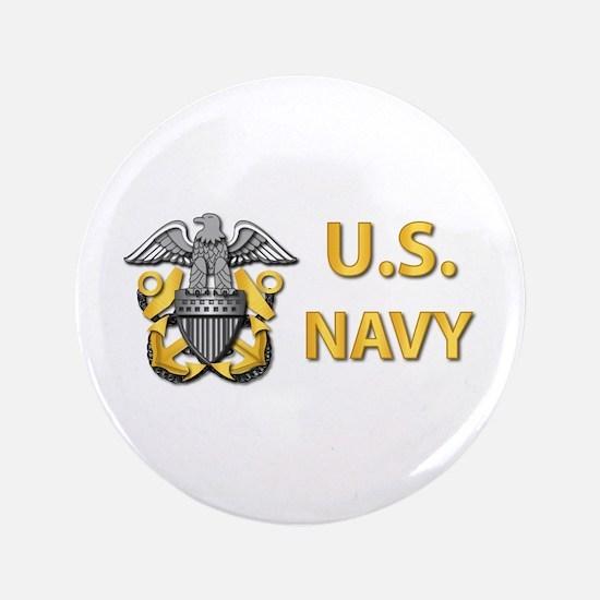 """U.S. Navy 3.5"""" Button"""