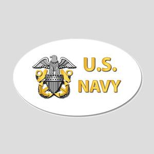 U.S. Navy 20x12 Oval Wall Decal
