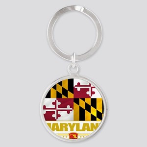 Maryland (Flag 10) Round Keychain