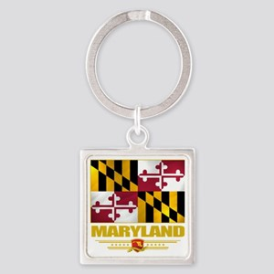 Maryland (Flag 10) Square Keychain