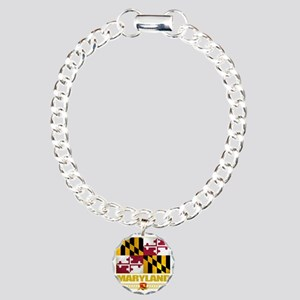 Maryland (Flag 10) Charm Bracelet, One Charm