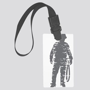 old linemen rule 3 Large Luggage Tag