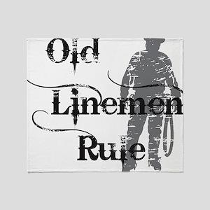 old linemen rule 2 Throw Blanket