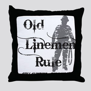 old linemen rule 2 Throw Pillow