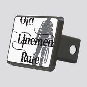 old linemen rule 2 Rectangular Hitch Cover