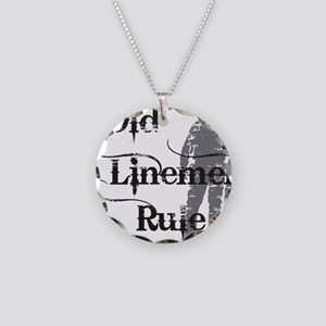 old linemen rule 2 Necklace Circle Charm