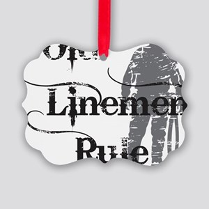 old linemen rule 2 Picture Ornament