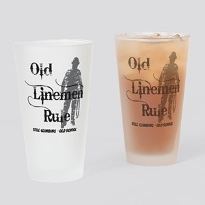 old linemen rule 2 Drinking Glass