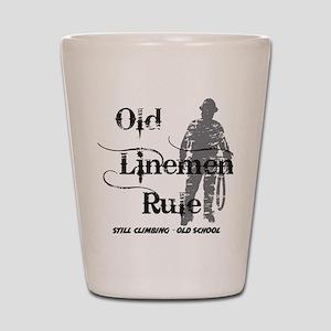 old linemen rule 2 Shot Glass