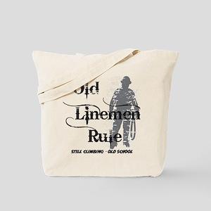 old linemen rule 2 Tote Bag