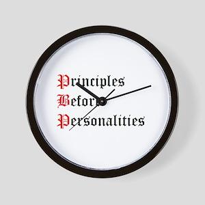 Principles Before Personalities Wall Clock