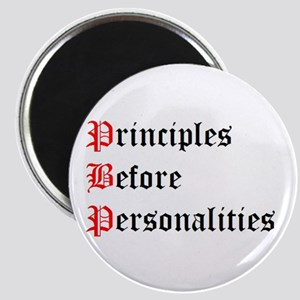 Principles Before Personalities Magnet
