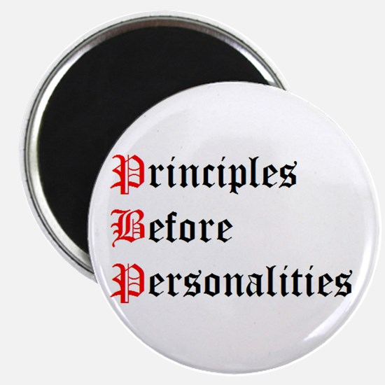 Principles Before Personalities Magnet