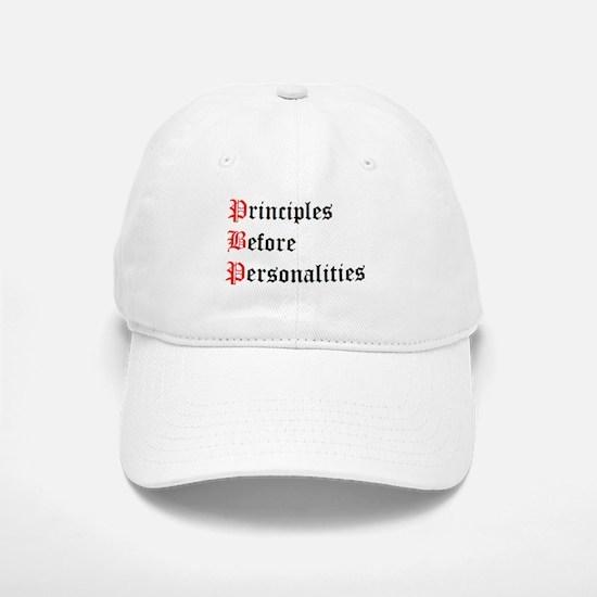 Principles Before Personalities Baseball Baseball Cap