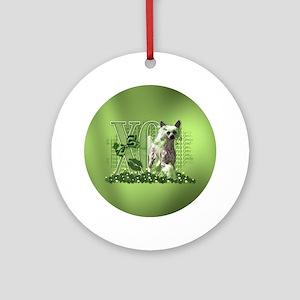 Irish_Chinese_Crested_Circle Round Ornament