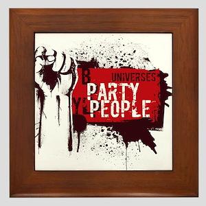 Party People illustration Framed Tile