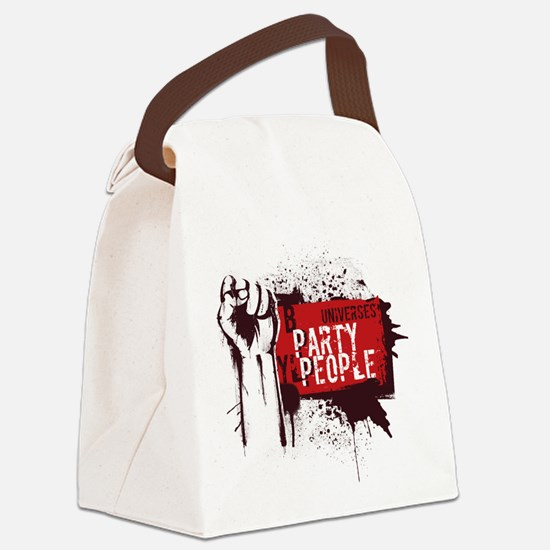 Party People illustration Canvas Lunch Bag