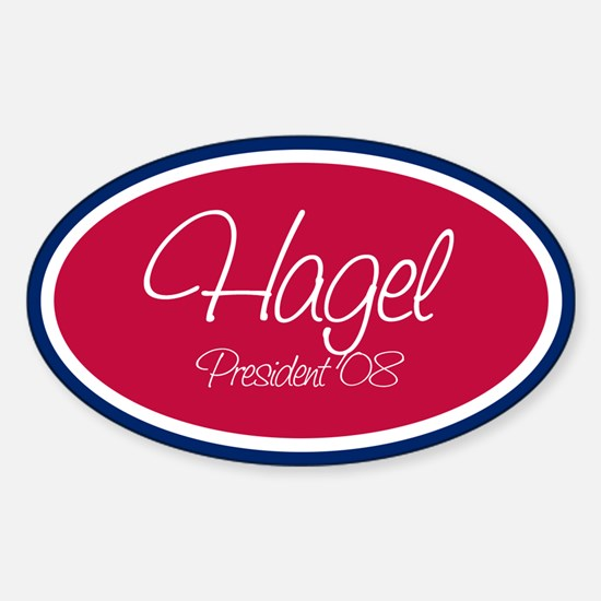 CHUCK HAGEL PRESIDENT '08 Oval Decal