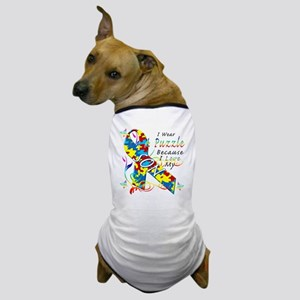 I Wear A Puzzle Because I Love My Son Dog T-Shirt