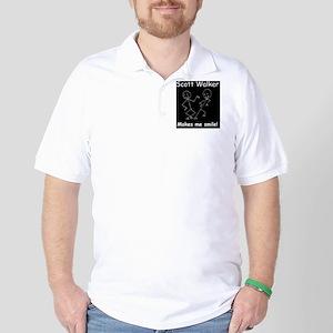 scott walker makes me smiled Golf Shirt