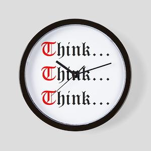 Think Think Think Wall Clock