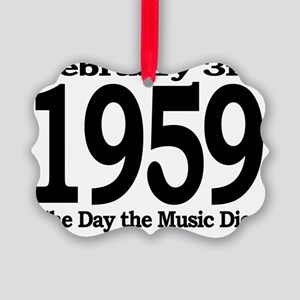 The Day the Music Died February 3 Picture Ornament